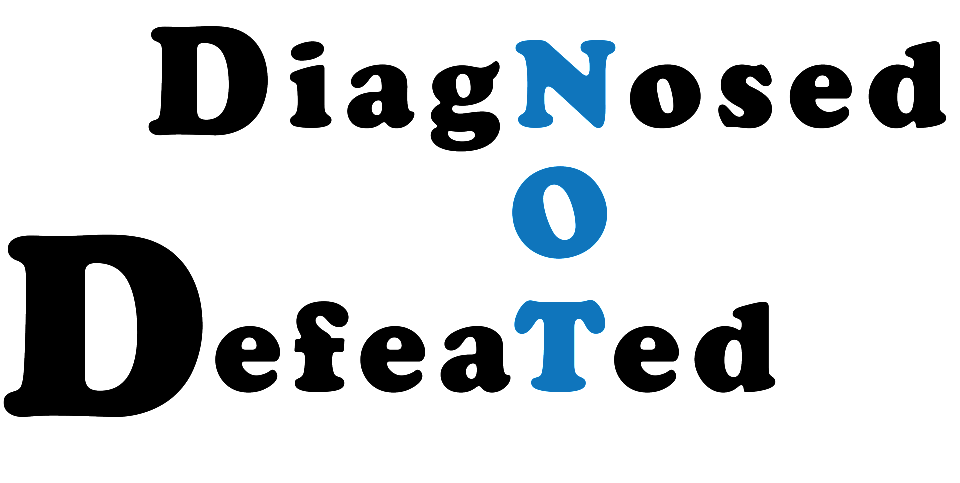 Diagnosed Not Defeated Retina Logo